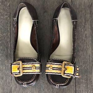 Nine West brown mocasines shoes for woman's